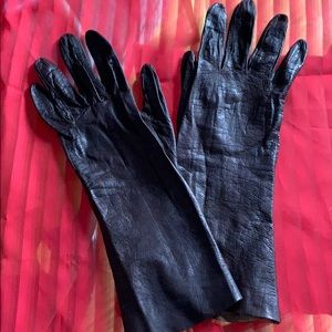 Triomphe French Vintage Brown Kid Gloves